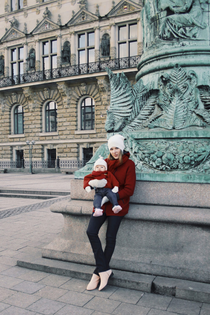 mother daughter twinning outfit red coat maas natur mochni