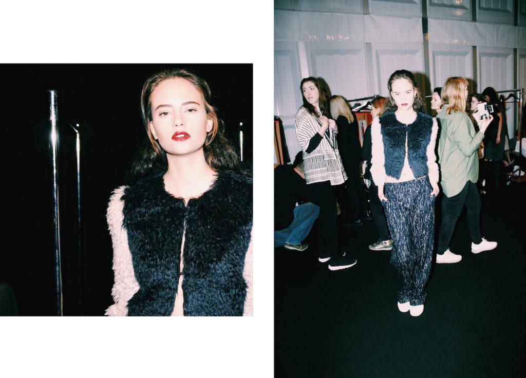 anne gorke fashion designer backstage at fashion week berlin mochni
