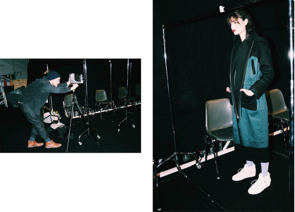 anne gorke fashion designer backstage fashion week berlin mochni