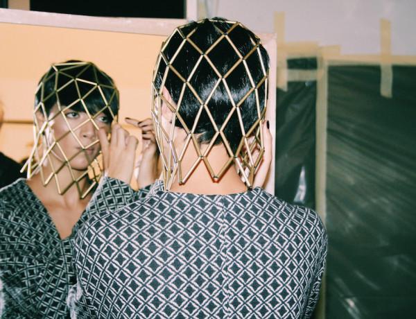 model backstage berlin fashion week whitetail mochni