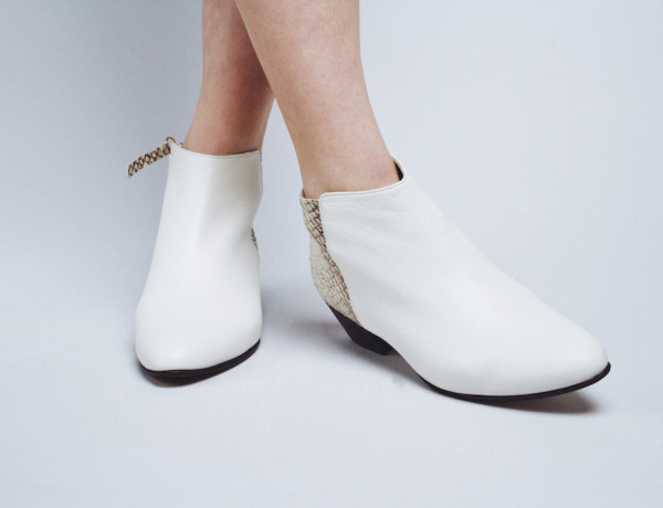 nine to five white shoes fish leather mochni