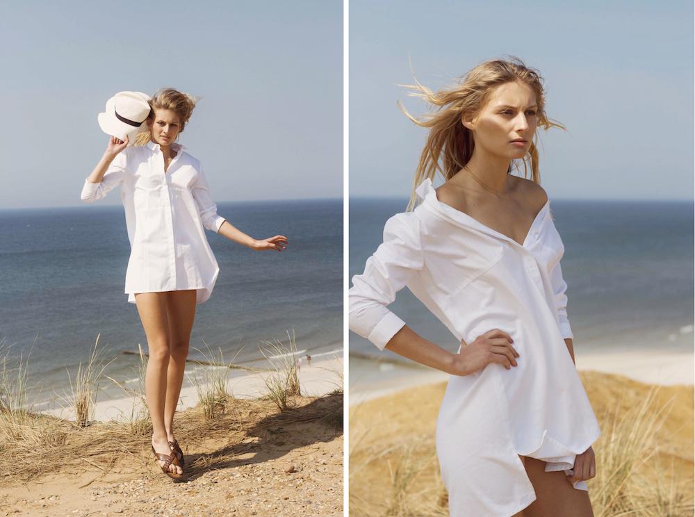 organic cotton shirt dress by jan n june hamburg mochni