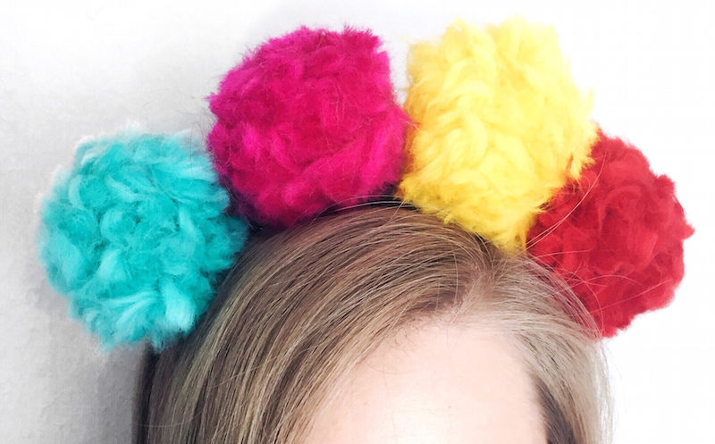 colorful wool pompons