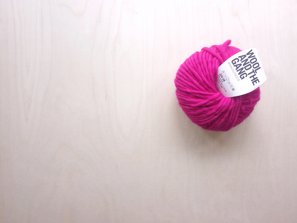 pink wool and the gang yarn