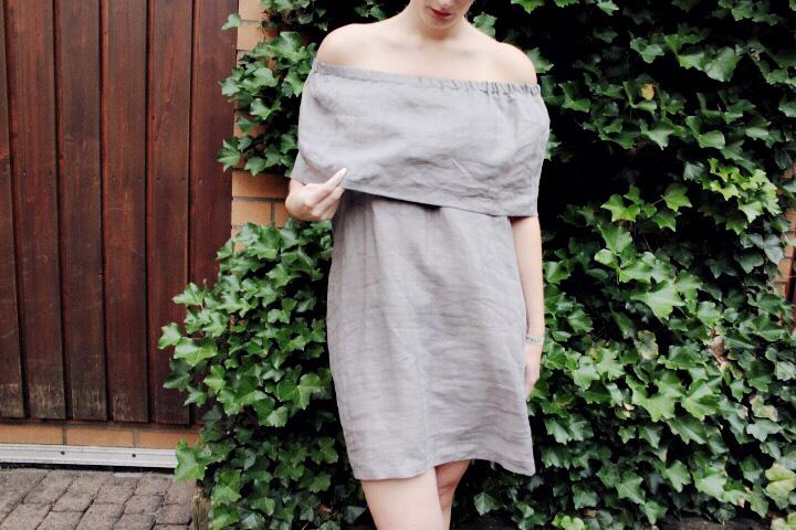 diy sewing tutorial off shoulder dress mochn 2