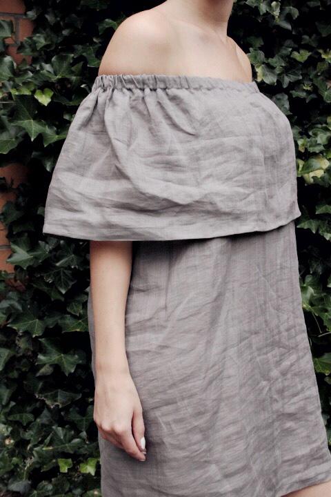 diy sewing tutorial off shoulder dress mochn 5