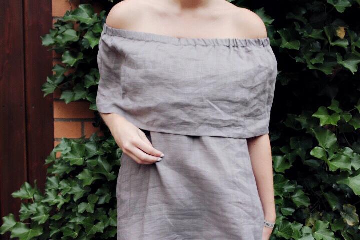 diy sewing tutorial off shoulder dress mochn 4