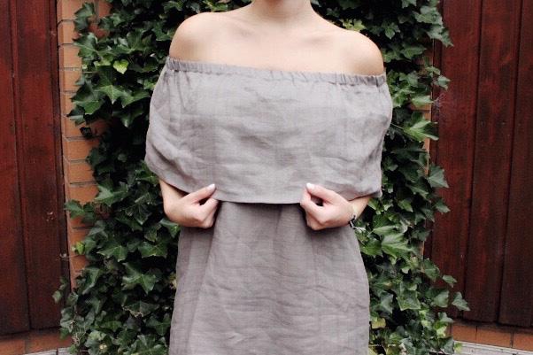 diy sewing tutorial off shoulder dress mochn 7