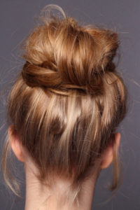 messy bun tutorial for party