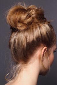 red hair bun tutorial for sylvester