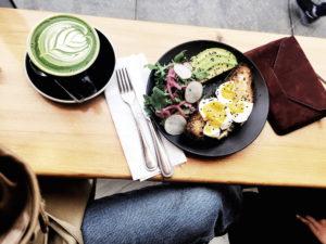 chalait matcha latte and salad west village mochni