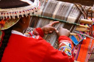 Weaver in Cusco, Peru