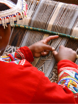 South America. Traditional Weaving And It´s Social Impact