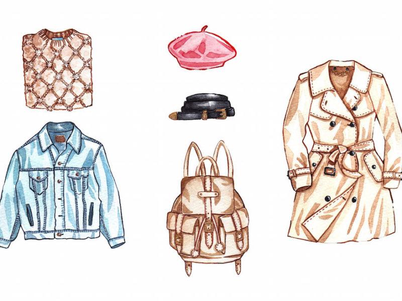 classy vintage fashion drawing 2