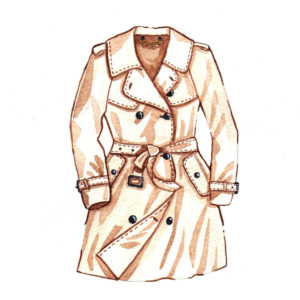 mochni trench coat drawing