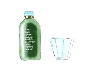green-cold-pressed-juice-illustration