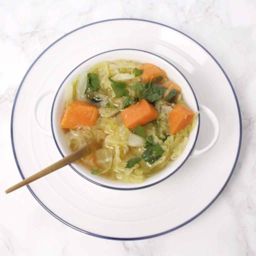 savoy cabbage sweet potato soup