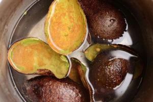 avocado skin dyeing