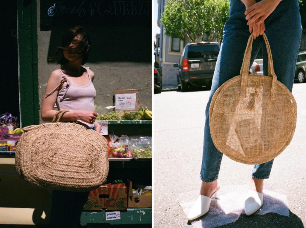lisa says gah woven bags