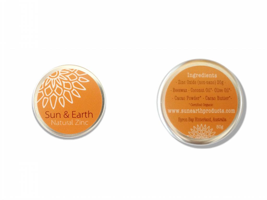 sun and earth zinc