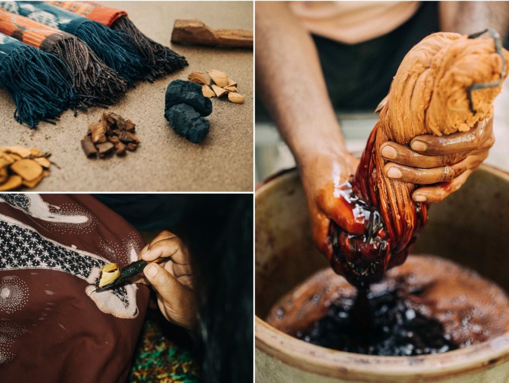 indonesian artisan natural dyeing