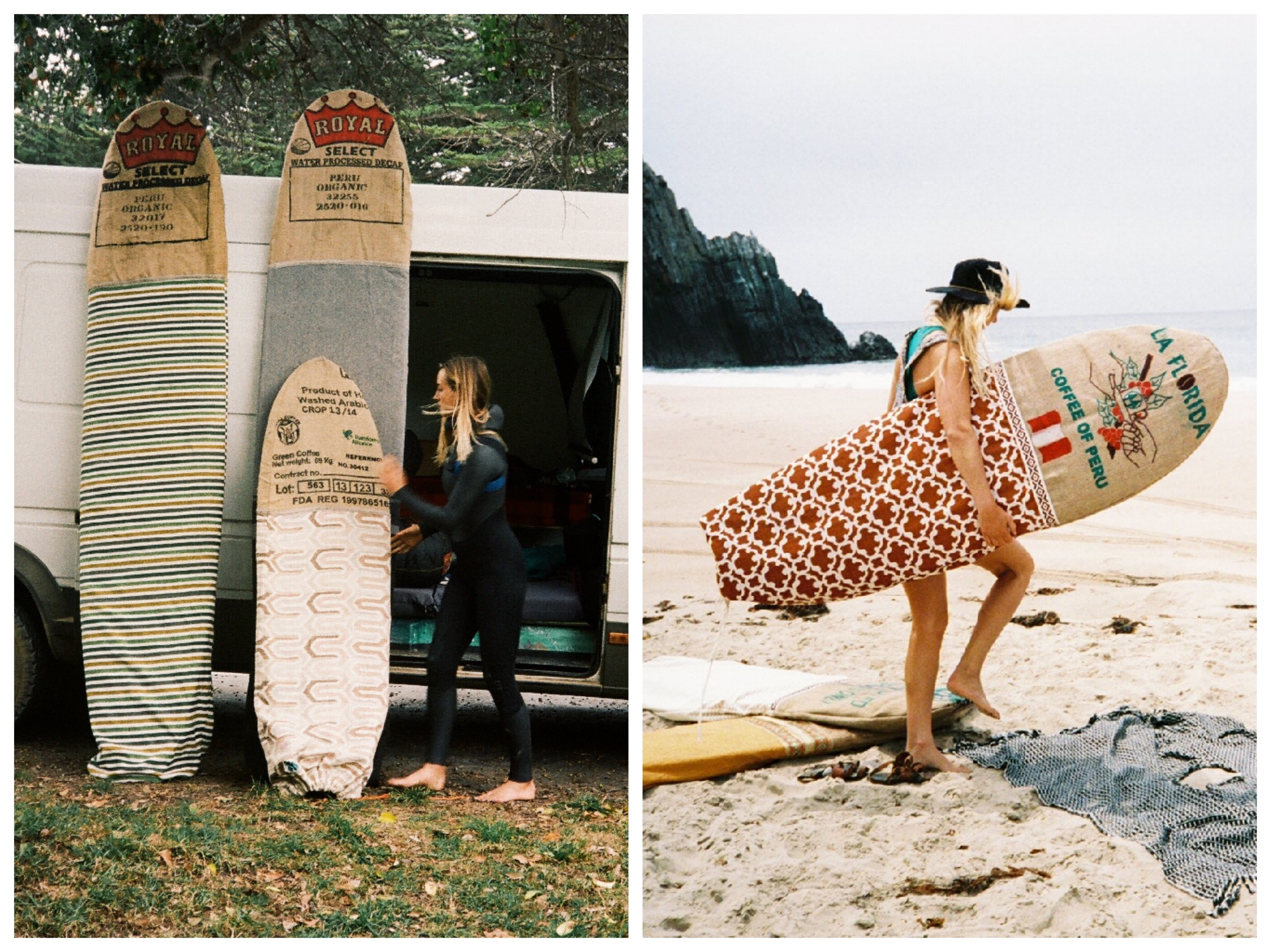 sage surfboards eco bags