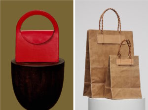 building block ethical leather bag