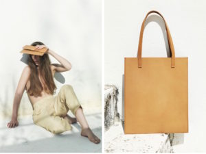 fin ethical leather bag