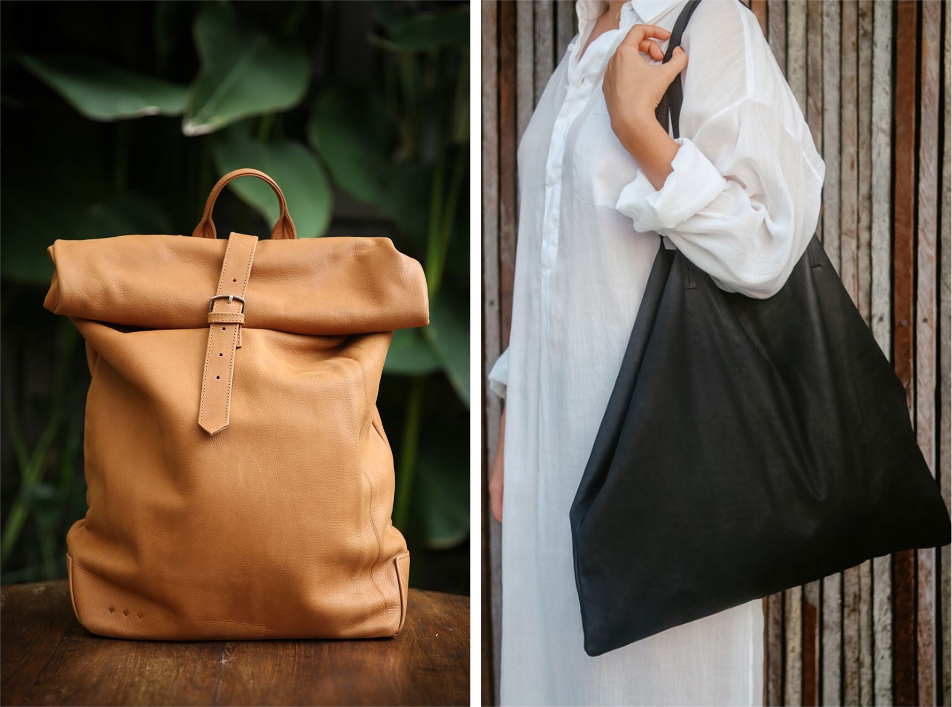 imke disselhoff ethical leather bag