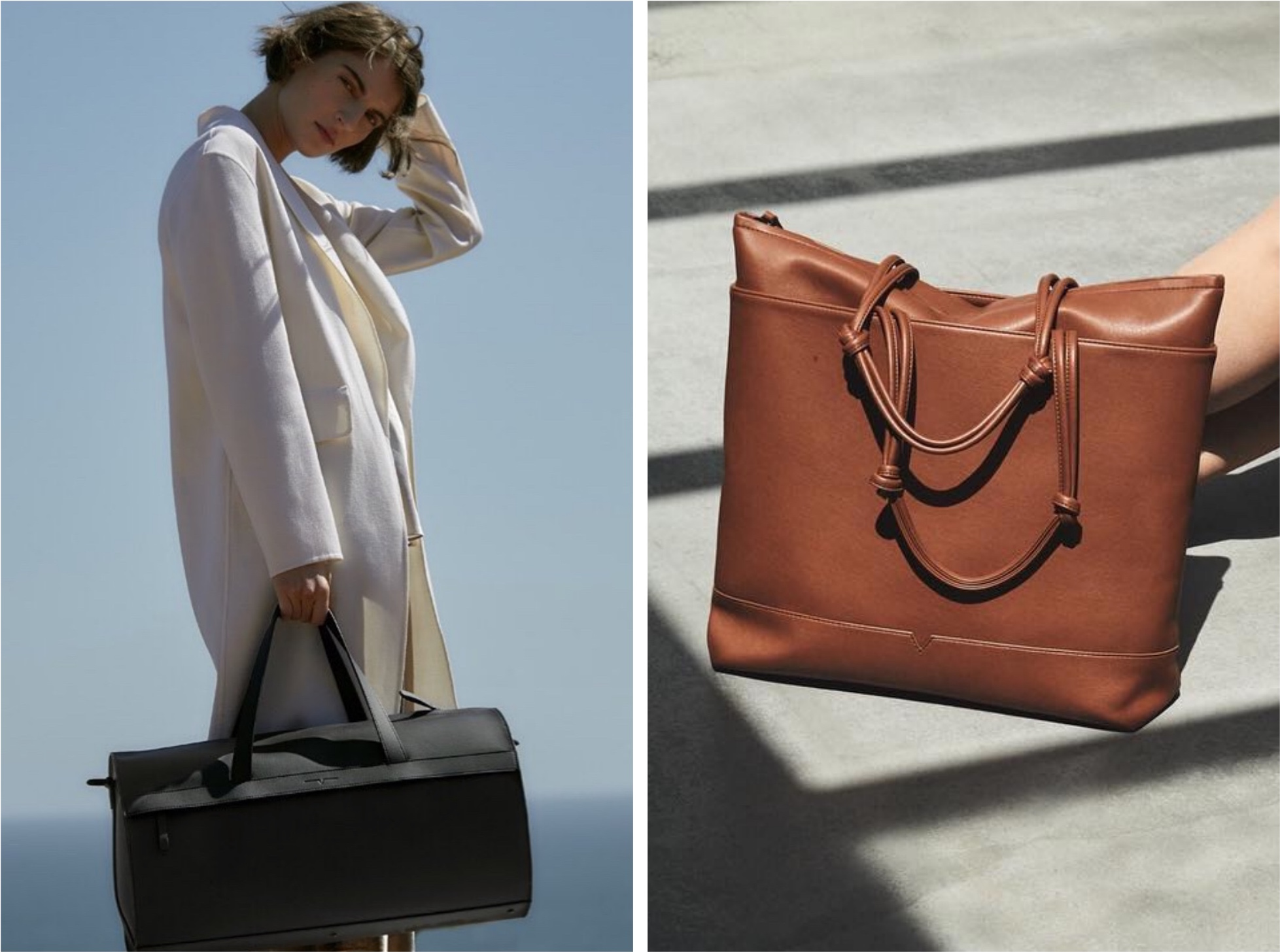 luxury vegan leather bag von holzhausen