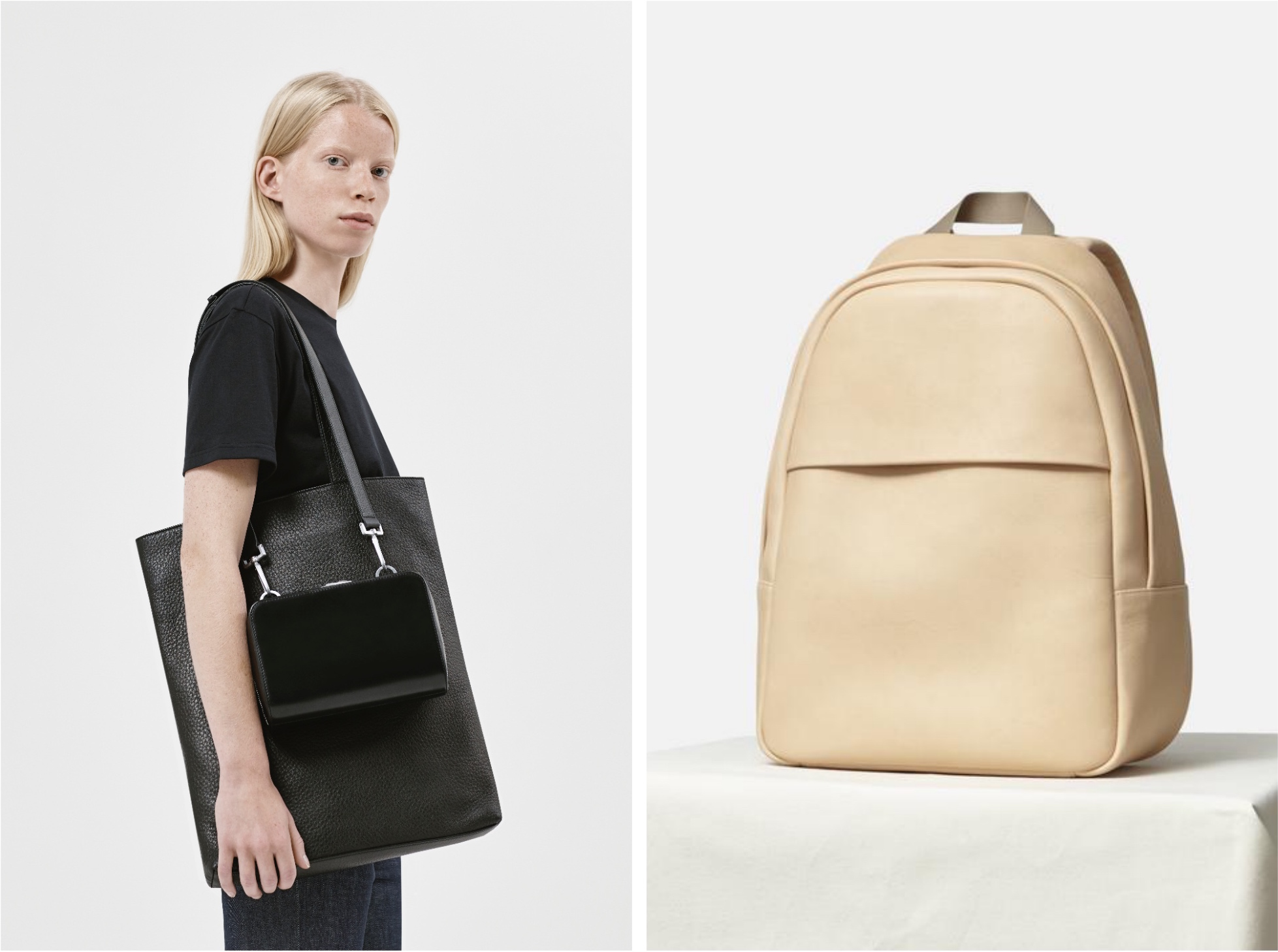silent goods ethical leather bag