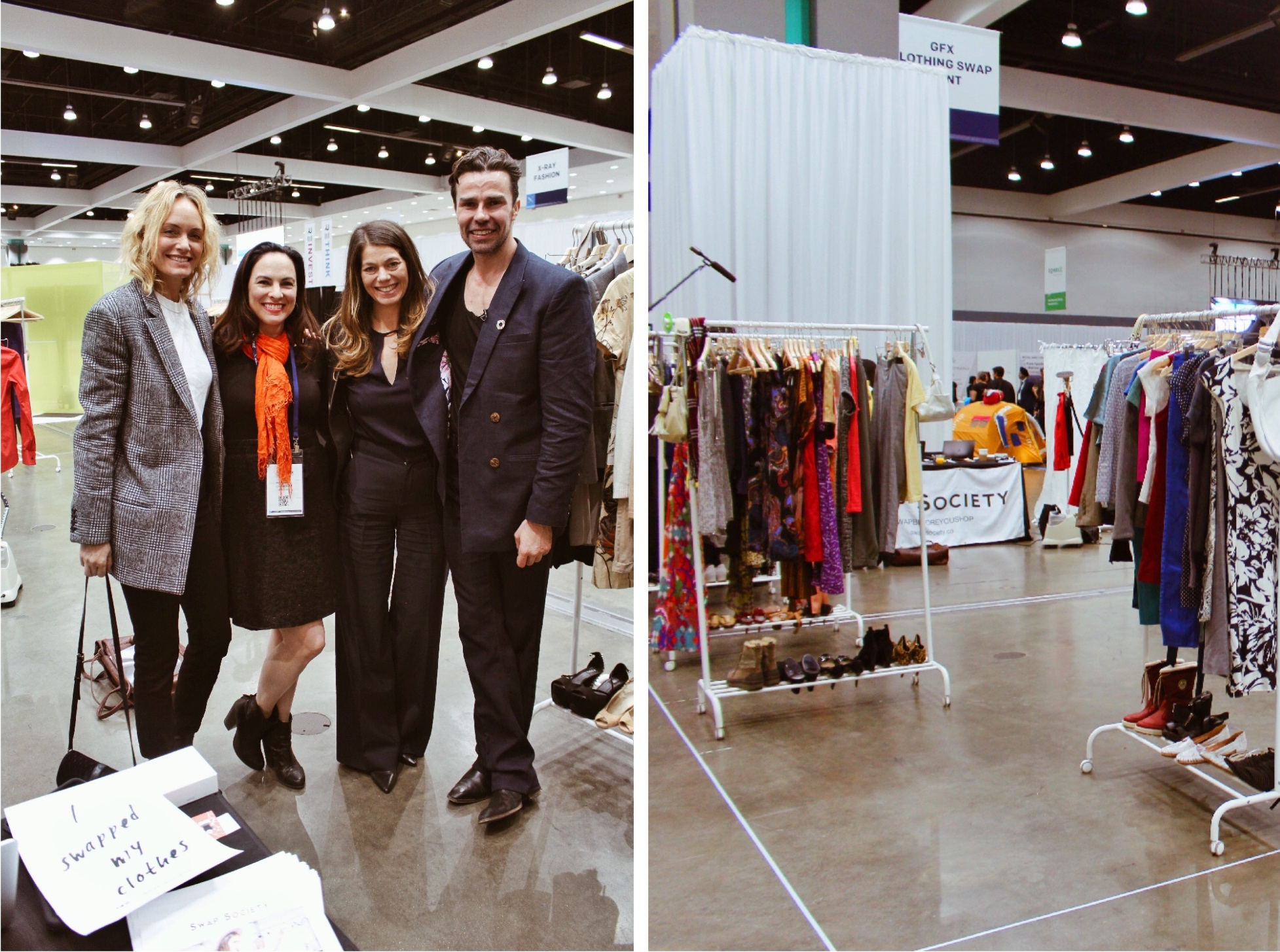 clothing swap remode swap society amber valletta nicole robertson patrick duffy global fashion exchange