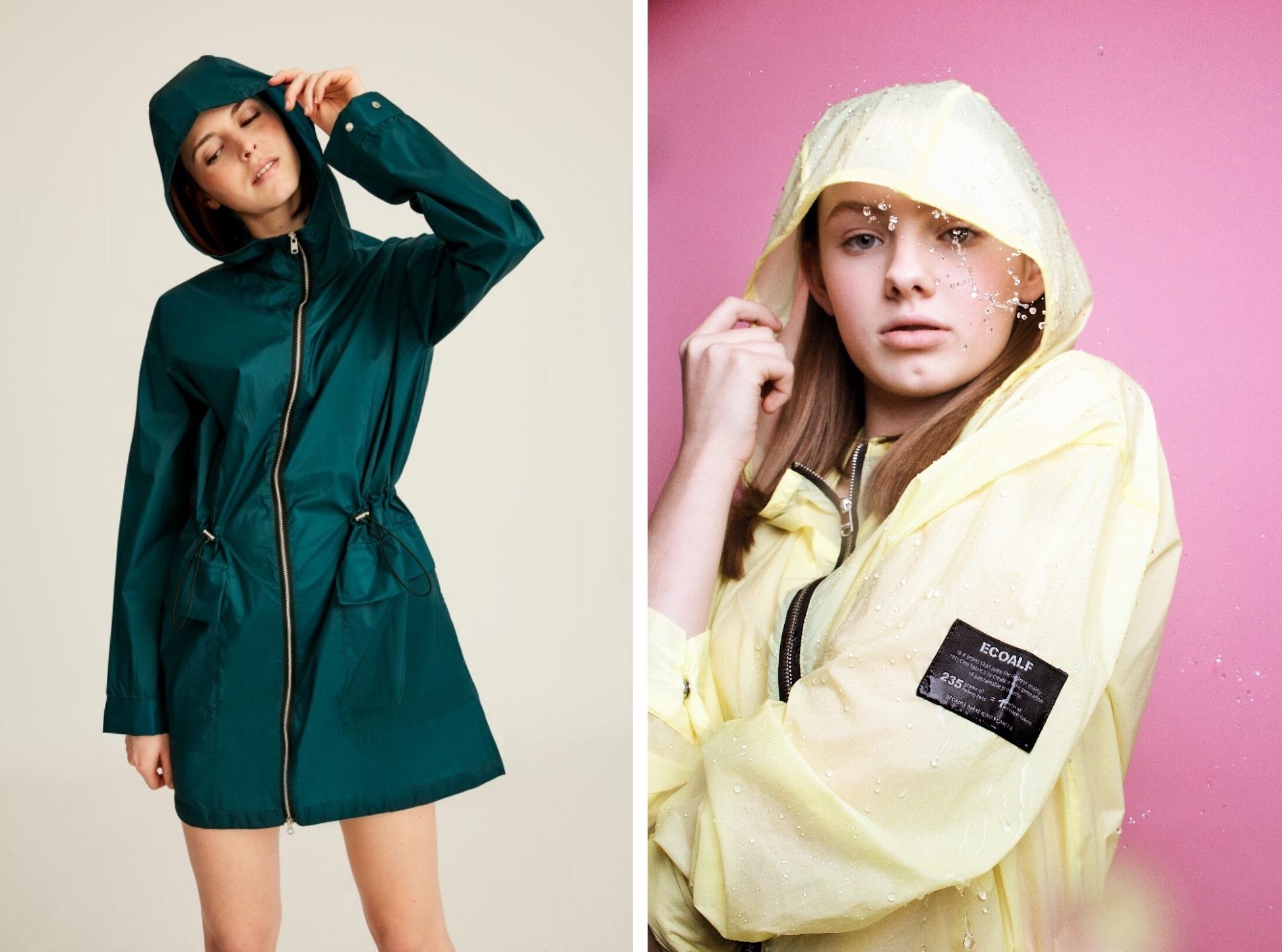 TRETORN Womens Hooded Long Raincoat Windbreaker Outdoor Waterproof Rain Jacket