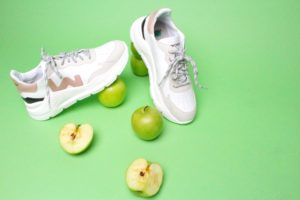 vegan apple skin sneakers